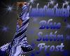 BLUE SATIN FROST DRESS