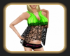 ladies greencrop top