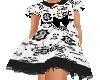 Flat Black White Dress