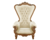 Cream and gold throne