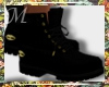 Black and Gold Timbs