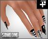+ goth glam nails