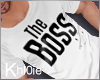 K The Boss tshirt M