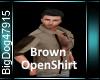 [BD]BrownOpenShirt