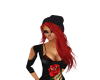 red hair w/ knit cap