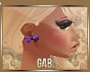-G- Bow galaxy earrings