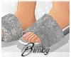 Velvet Slides Grey