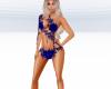Blue Body Glitter Suit