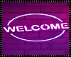 welcome sign neon