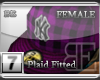 [BE]PurplePlaid|Fitted F