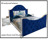 royal blue glass bed