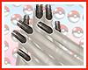 Shiny Eevee Nails