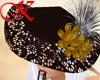 brown lady hat