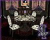 Black Toile Tea Table