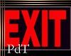 PdT Exit Sign Poster