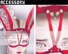 RedLaced Bunny Mask