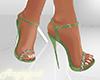 Green Flower Heels