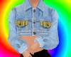 plaid jean jacket