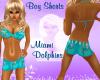 ~LB~Boy Shorts- Dolphins