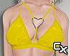 Latex Heart Bra | Yellow