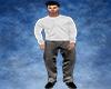 Steel Grey Formal Pants