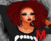 Curly Afro Red *M