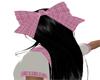 Hair Bow Pink/White