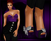 Purple High-Waist Heels