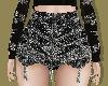 Tassel Sequin Mini Skirt