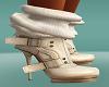 Buckle boots light beige