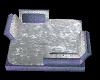 lavender n silver sofa