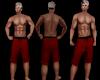 Sam Red&Black SwimTrunks