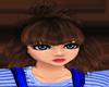 Brown kid/woman hair