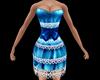 Blue Lace Short Dress