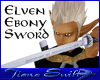 Elven Ebony Sword (M)
