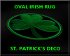 LB Oval Irish rug