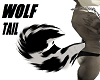 Wolf tail Black White