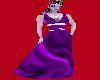 Purple w/ white silk