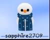 *S* Snowman In Hand_Blue