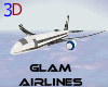 *3D* Glam Airlines.