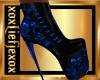 [L] Skull Blue Boots F