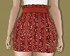 Red Sequin Festive Skirt