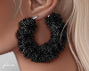 f. black fur hoops