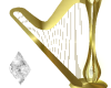 Gold/Crystal Harp