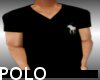 BLACK POLO V NECK