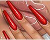 f. plain red nails