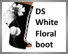 DS White Floral boot