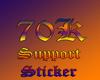 70k Support Sticker