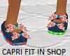Kids floral capri shoes