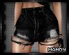 xMx:Ripped Black Shorts